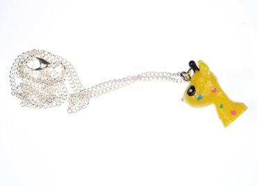 Giraffe Necklace Miniblings 45cm Giraffe Africa Children Jewellery Comic Yellow – Bild 3