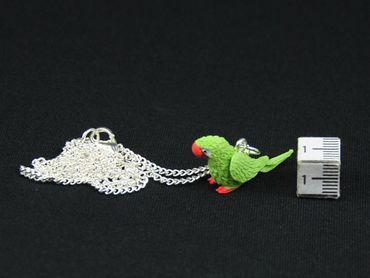 Parrot Ara Necklace Miniblings 45cm Bird Amazon Bird Necklace Green – Bild 2