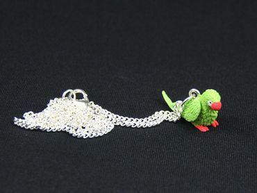 Parrot Ara Necklace Miniblings 45cm Bird Amazon Bird Necklace Green – Bild 3