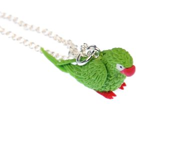 Parrot Ara Necklace Miniblings 45cm Bird Amazon Bird Necklace Green – Bild 4