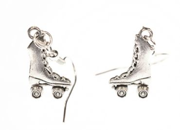 Skate Boots Earrings Miniblings Roller Skates Skates High Silver – Bild 1