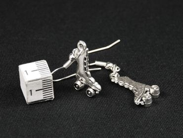 Skate Boots Earrings Miniblings Roller Skates Skates High Silver – Bild 3
