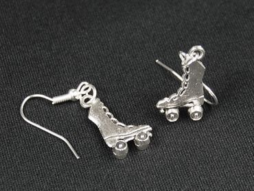 Skate Boots Earrings Miniblings Roller Skates Skates High Silver – Bild 4