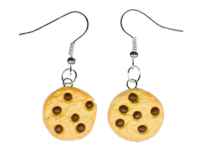 Keks Chocolate Drops Ohrringe Hänger Miniblings Weihnachten Cookie ...