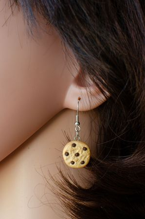 Biscuit Chocolate Drops Earrings Miniblings Christmas Cookie Handmade – Bild 4