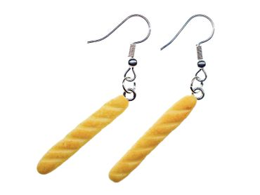 Baguette Earrings Parisette Pendant Miniblings Brioche Bread Breakfast Paris – Bild 1