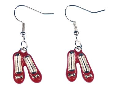 Ballerina Earrings Miniblings Couple Red Enameled Loop Together – Bild 2