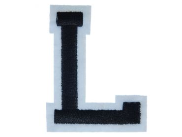 Letters Initials Alphabet ABC Hotifix Patch Hotfix Iron On Motif Application Sewing Miniblings 5cm Letter L – Bild 1