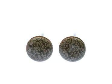 Enamel Discs Earrings Ear Studs Earstuds Miniblings Enamelled Round Circle 8mm Xs – Bild 6