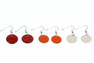 Enamel Discs Earrings Miniblings Pendant Enamelled Round Circle Color Choice 16mm – Bild 4