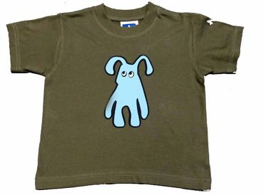Baby Child Children Tshirt Kalle Fux Crafted Kids Children T-Shirt Khaki Dog Size68 – Bild 2