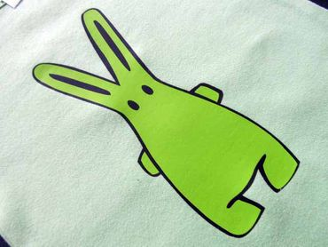 Baby Child Children One-Piece Rompers Oncie Kalle Fux Hand Printed Green Hase Green Size68 – Bild 1