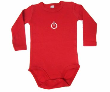 Baby Child Children One-Piece Rompers Oncie Kalle Fux Crafted Hand-Printed Red On Off Button On Of Size62/68 – Bild 1