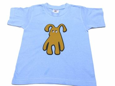 Baby Child Children Tshirt Kalle Fux Hand Printed Children'S T-Shirt Blue Dog Brown Gr.86 / 92 – Bild 1