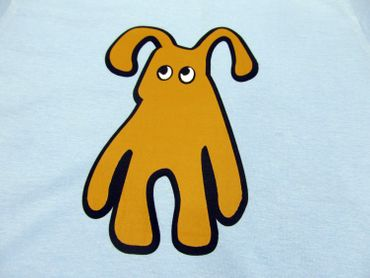 Baby Child Children Tshirt Kalle Fux Hand Printed Children'S T-Shirt Blue Dog Brown Gr.86 / 92 – Bild 2