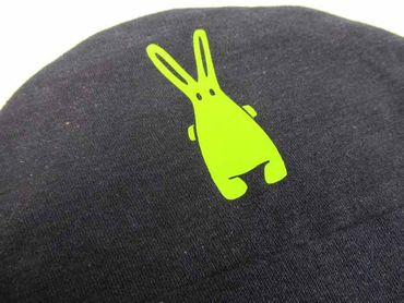 Baby Child Children Hat Kalle Fux Crafted Hand-Printed Black Rabbit Ku 32cm Baby Child Children Hat – Bild 2