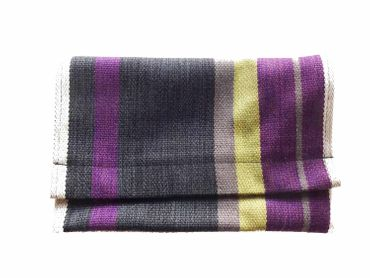 Clutch Wallet Tablet Stripe Bag Miniblings Federmappe Textile 27X18cm XL Purple Purse – Bild 1