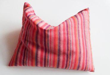 Herbal Pillow Cushion Health Miniblings Purple 24X16cm Striped Pattern Red – Bild 3