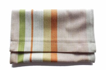Clutch Wallet Tablet Stripe Bag Miniblings Textile 27X18cm XL Green – Bild 1