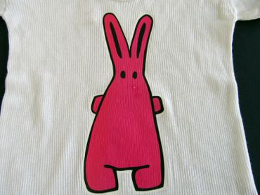 Baby Child Children Tshirt Rippshirt Rib Kalle Fux Crafted Short Sleeve Shirt T-Shirt Bunny Rabbit Hare 74 – Bild 2