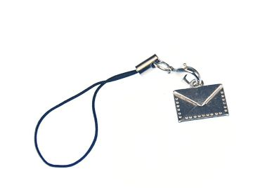 Letter Mobile Phone Charm Mobile Jewellery Miniblings Envelope Author Writing Paper – Bild 2