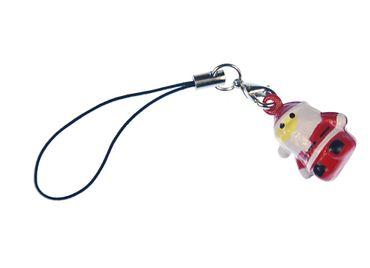 Santa Claus Mobile Phone Charm Miniblings Mobile Jewellery Santa Christmas Bells – Bild 1