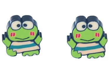 Frog Earrings Ear Studs Earstuds Miniblings Kawai Manga Comic Animal 1cm – Bild 1