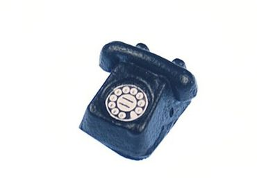 Dollhouse Accessories Phone Black Handmade Retro Dollhouse Miniature – Bild 1