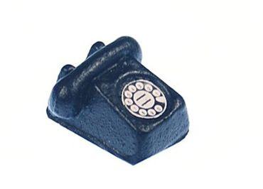 Puppenstube Zubehör Telefon schwarz handgemacht retro Puppenhaus Miniatur – Bild 3
