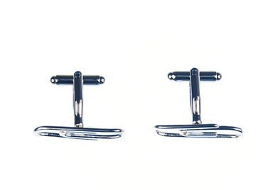 Paper Clip Cuff Links Cufflinks Miniblings Buttons + Box Office Organization Clip – Bild 4