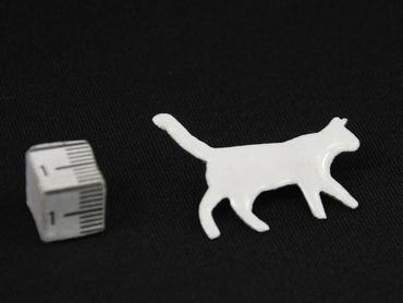 Cat Enamel Brooch Pin Miniblings Animal Pet Cat Enamellled White – Bild 1
