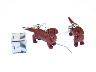 Dachshund Rubber Dog Earrings Miniblings Dachshund Brown – Bild 2