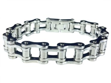 Bicycle Bracelet L Miniblings Hinged Bracelet Silver  – Bild 1