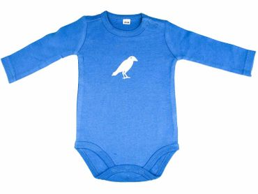 Baby Child Children One-Piece Rompers Oncie Kalle Fux Handmade Animal Blue Rabenkrähe White Size 62/68 – Bild 1