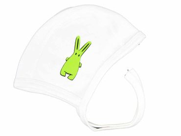 Baby Child Children Hat Kalle Fux Hand Printed White Rabbit Green 47 Baby Child Children Hat – Bild 1