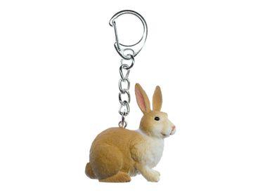 Häschen Schlüsselanhänger Miniblings Osterhase Hase Gummi Kaninchen 45mm hell – Bild 1