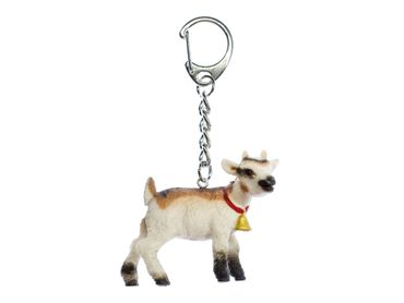 Goat Key NecklaceRing Miniblings Kids With Bells Farm Rubber 55cm – Bild 1