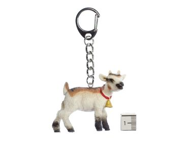 Goat Key Chain Ring Miniblings Kids With Bells Farm Rubber 55cm – Bild 2