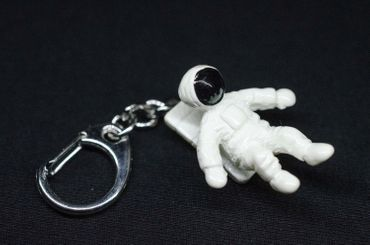 Astronaut Key Chain Cosmonaut Spaceman Miniblings White Space 3.5cm – Bild 2