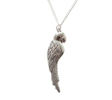 Parrot Necklace Parrot Necklace Miniblings Bird Macaw Birds Tropical 60cm Silvered – Bild 2