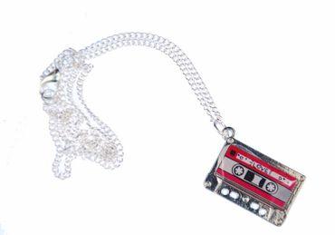 Cassette Necklace Cassette Mc Music Necklace Miniblings Tape Mixtape Pink – Bild 1