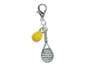 Tennis Racket And Tennis Ball Charm Miniblings Tennis Enamelled 2Er – Bild 1