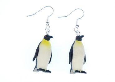 Pinguin Ohrringe Pinguinohrringe Pinguine Miniblings Südpol Frack Meer Gummi – Bild 1