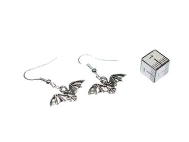 Bat Earrings Miniblings Halloween Vampire Bat Bloodsuckers Silver Plated – Bild 3