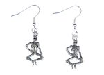 Skeleton Earrings Skeleton Bone Skull Miniblings Halloween Death Silvered Plated
