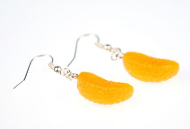 Mandarin Earrings Orange Piece Mandarin Piece Miniblings Orange Fruit Orange – Bild 5