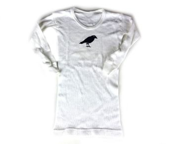 Baby Langarmshirt Feinripp KALLE FUX Longsleeve Shirt Tshirt Krähe schwarz 92 – Bild 5