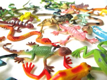 36X Snakes Frogs Lizards Salamander Animal Figurines Toy Figure Figures Figuriness Reptiles – Bild 4
