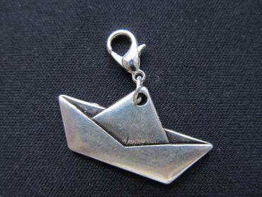 Papierschiff Charm Papier Schiff Origami Segelschiff Anhänger Miniblings Boot – Bild 2
