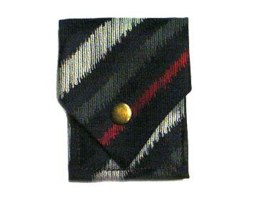 Krawattentäschchen Täschchen Miniblings Upcycling Krawatte Druckknopf gestreift – Bild 1